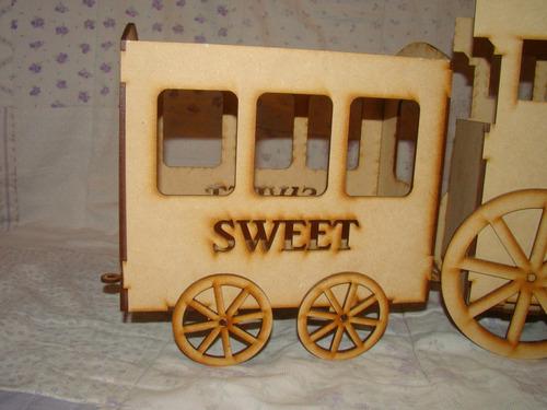 tren fibrofacil candy bar decoracion mesa dulce