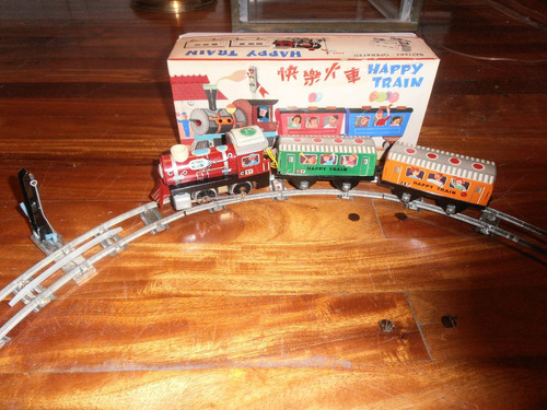 tren happy a pila metal chino 063 años 70- devoto toys