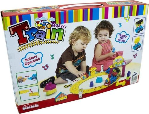 tren infantil musical con pista bloques y accesorios