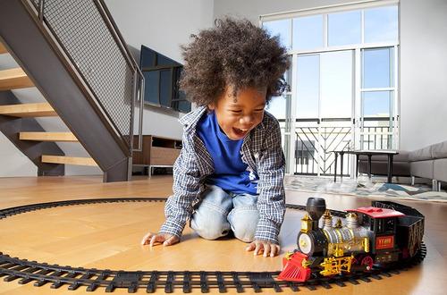 tren juguete arbol navidad humo real 18 piezas locomotora