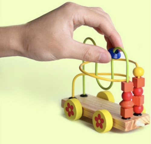 tren madera c/ prono 2 en 1 arrastre locomotora vagones niño