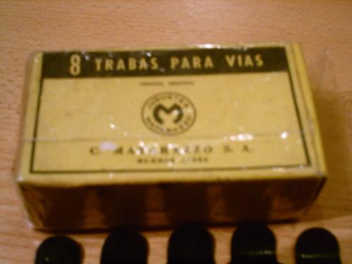 tren matarazzo 8 trabas para vias en caja original 1930s