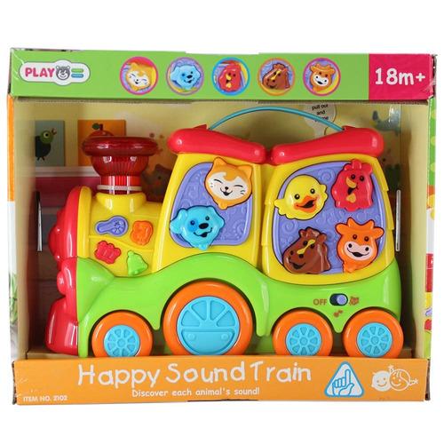 tren musical animales bebé niños juguete infantil play go