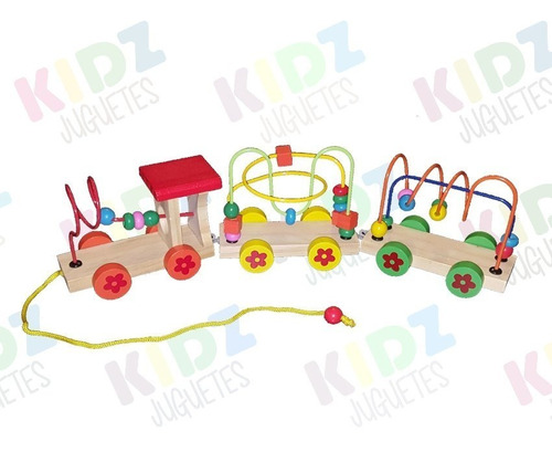 tren pronosupinador con arrastre 2 en 1 - kidz juguetes