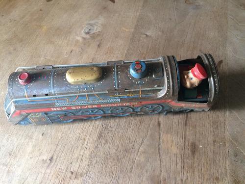 tren silver toys tokio japan de los 60s
