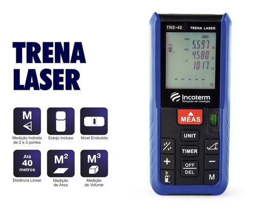 trena a laser digital 40 metros incoterm