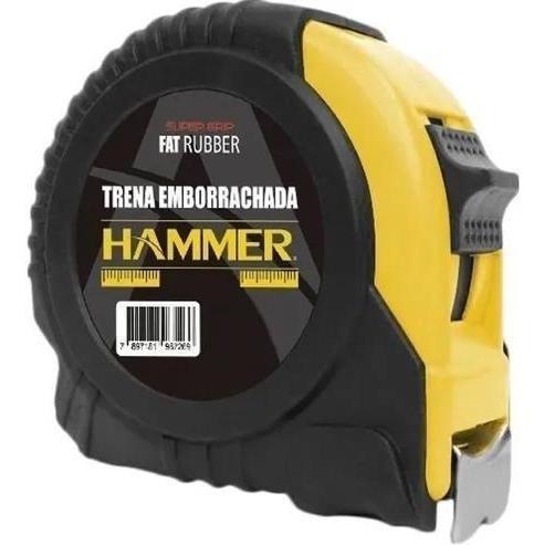 trena emborrachada 5metrosx25mm hammer preta e amarela