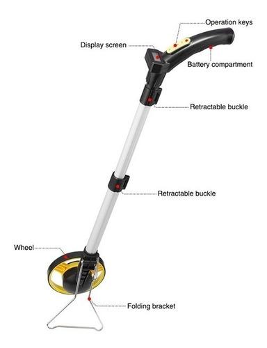 trena medidor totalizador distancia digital com roda 100km