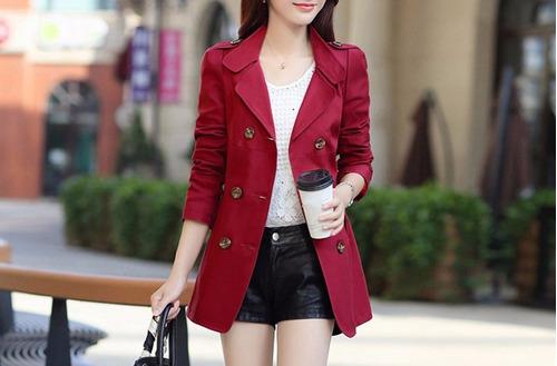 trench blazer chaqueta mujer burdeo