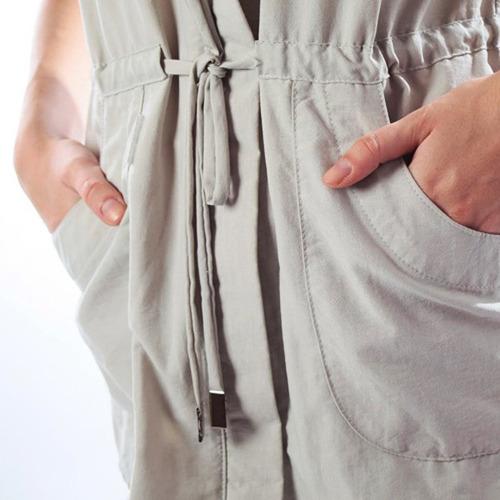trench mujer manga corta