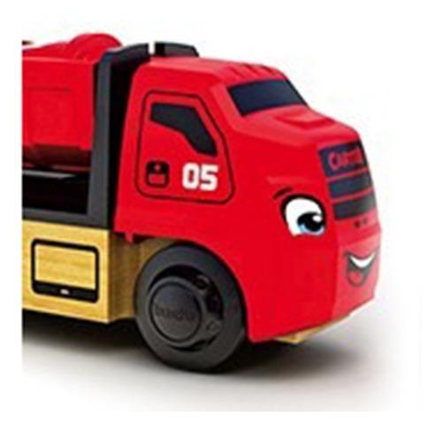 trencity carter camion recolector rojo tren madera educando