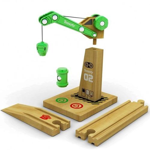 trencity grua magnetica de madera con rampa educando