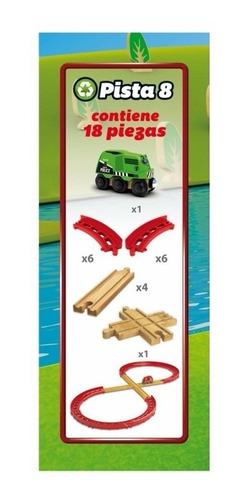 trencity kit avanzado pista 8 tren de madera magnetico 2001