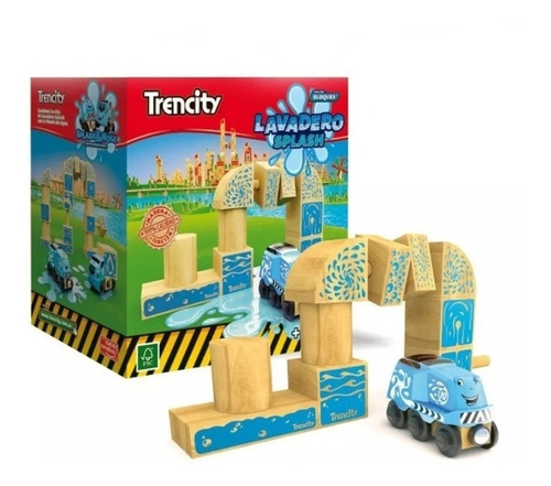 trencity kit lavadero splash de madera piezas de madera