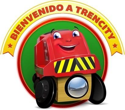 trencity paso a nivel barreras tren de juguete de madera
