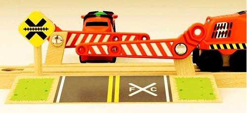 trencity paso a nivel juguetes de madera educando