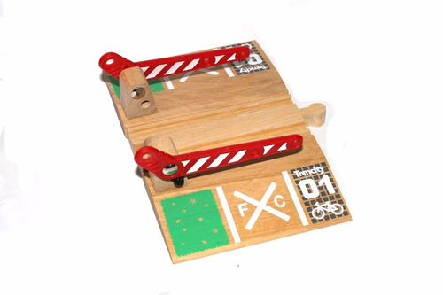 trencity paso a nivel juguetes de madera educando full