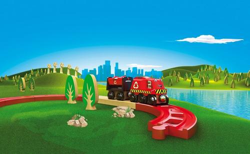 trencity set desvios plastico rojo verde 4 piezas educando