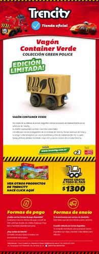trencity vagón container - col. greenpolice - tienda oficial
