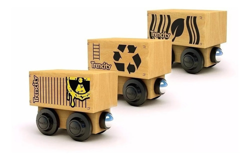 trencity vagon de carga porta container de madera