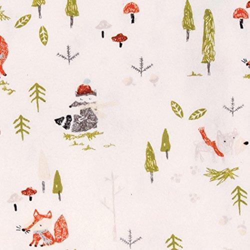 trend lab deluxe flannel equipada cuna hoja invierno woods