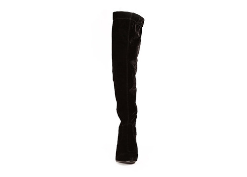 trender bota larga de terciopelo color