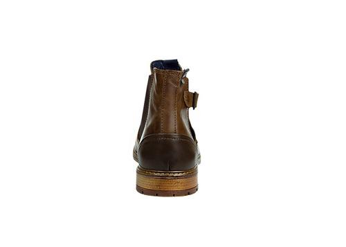 trender botas de piel para hombre color chedron con hebilla