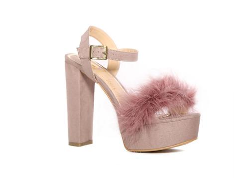 trender sandalia en color rosa, plataforma