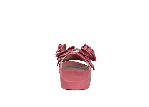 trender sandalia para mujer color rosa con detalle de rosas