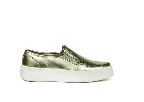 trender slip on color plata con plataforma