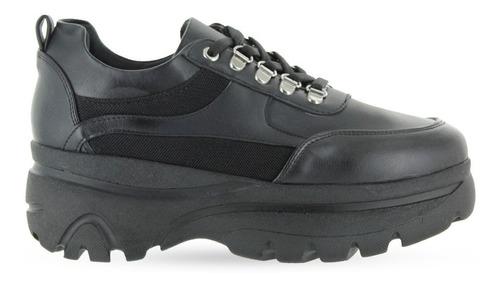 trender tenis color negro con agujetas