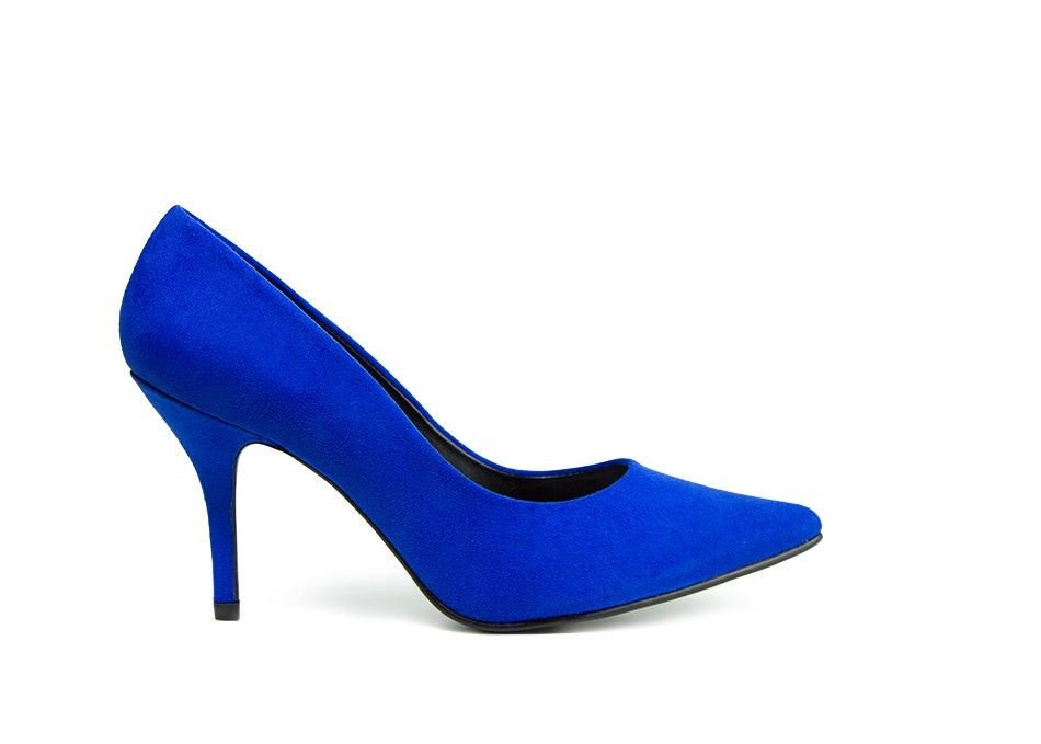 01f3f96827fc9 Trender Zapatilla Color Azul Con Tacon Delgado -   520.00 en Mercado ...
