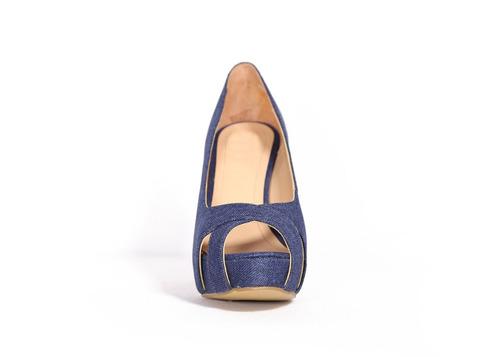 trender zapatilla en color mezclilla brillante