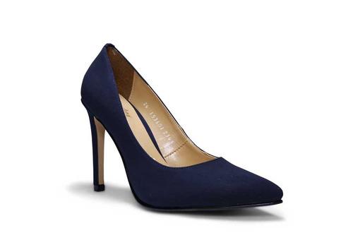 trender zapatilla stiletto en color azul marino