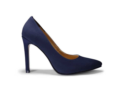trender zapatilla stiletto en color azul marino
