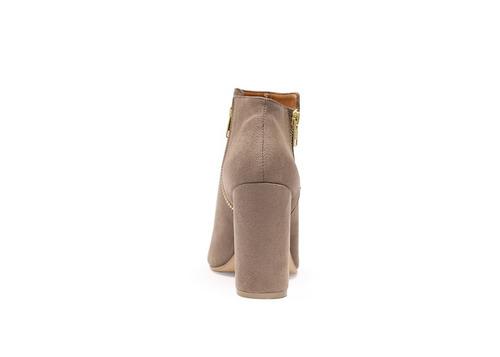 trender zapato de tacon color taupe boca de pescado  8620047
