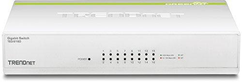 trendnet 16-port conmutador greennet gigabit, policarbonato,