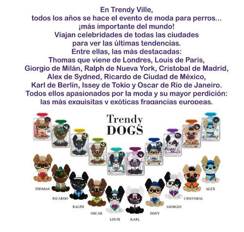 trendy dogs cristobal peluche perro perfumado anteojos intek