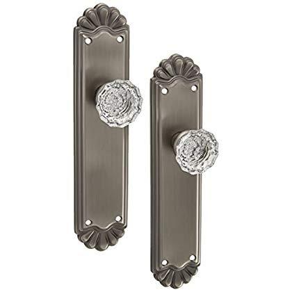 trenton puerta set con estriado cristal perillas doble maniq