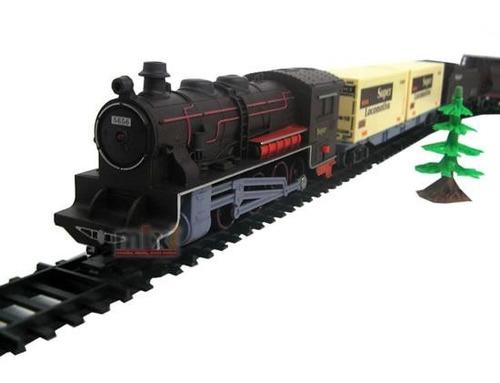 trenzinho elétrico 40 peças ferrovia trilhos 8003 - braskit