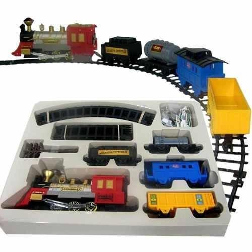 trenzinho elétrico 49 pcs trem ferrorama grande tunel 5,3m