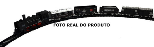trenzinho elétrico rail a pilha locomotiva e trilho 2,70cm