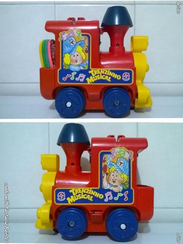 trenzinho musical trem estrela anos 80 funcionando