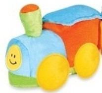 trenzinho pelucia piui boy 50cm colorido antialergic lavavel