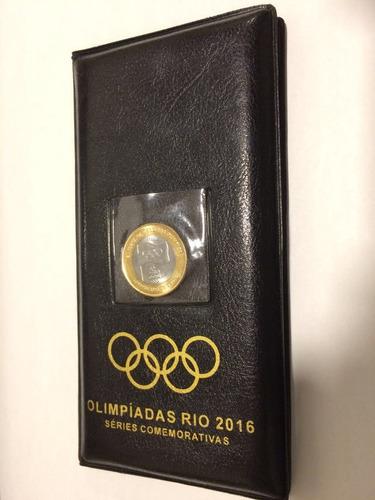 tres álbum olimpíadas rio2016 completo 17 moedas -c/bandeira