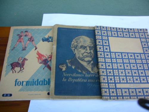 tres antiguos  cuadernos