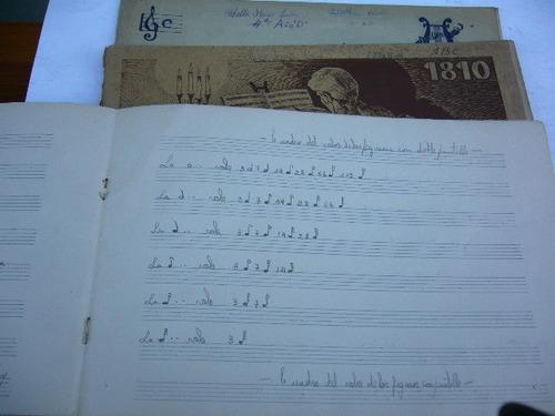 tres antiguos  cuadernos de musica