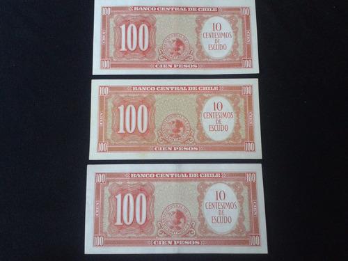 tres billetes chile mackenna ibañez correlativos