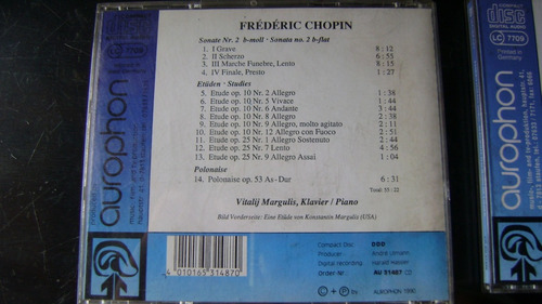 tres cds aurophon classics chopin, beethoven y... serie 1.13