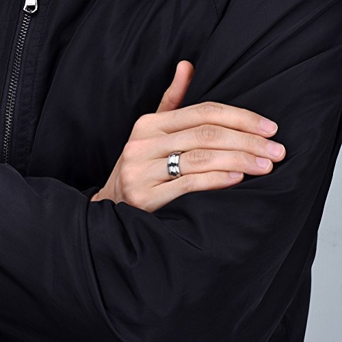tres claves anillo bodas titanio joyas 8 mm cepillado acana